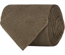 Silk Grenadine Handrolled 8 cm Krawatte Khaki