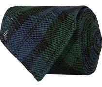 Silk Fine Grenadine Handrolled 8 cm Krawatte Blackwatch