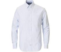 Buttondown Striped Oxfordhemd Light Blue
