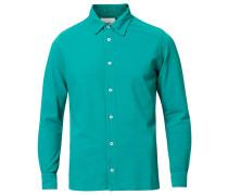 Longsleeve Pique Hemd Emerald Green