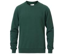 Classic Organic Rundhalspullover Emerald Green