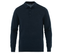 Luciano Woll/Silk Pullover Navy