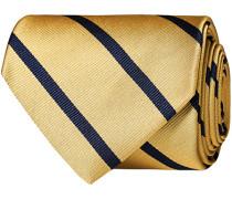Striped 8 cm Silk Krawatte Yellow