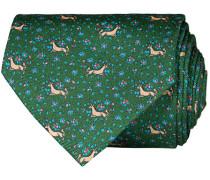 Silk Printed Unicorn 8 cm Krawatte Green