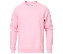 Classic Organic Rundhalspullover Flamingo Pink