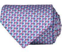 Micro Fancy Silk 8 cm Krawatte Rosa