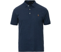 Custom Slim Fit Luxury Pima Baumwoll Polo Navy Heather