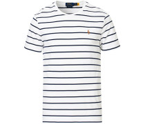 Luxury Pima Baumwoll Stripe Tshirt White/Navy