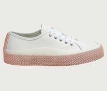 Sustainable leather sneaker Weiß
