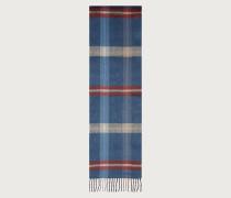 Schal mit Karomuster Blaugrün/rot/kamelbraun