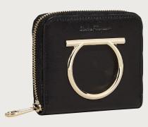 Französische Brieftasche mit Rundum Reißverschluss und Gancini Element
