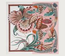 Seidentuch mit Makro Orchideen Print