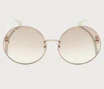 Sonnenbrille Rotgold/hellbraune Gläser
