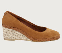 Espadrille wedge pump