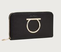 Brieftasche mit Rundum Reißverschluss und Gancini Element