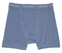 Three-Pack Blue Cotton Boxer Slip