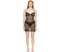 Black Lace Triangle Sheer Kleid