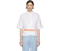 Silk Wrap Gürtel Shirt