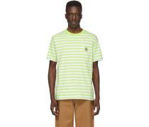 Green and White Scotty Pocket Tshirt