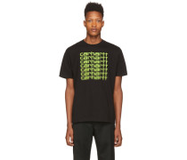 Black and Green Fading Script Tshirt