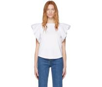 White Frill Sleeve Tshirt