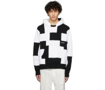 Black and White Panel Hoodie