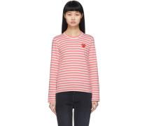 Striped Heart Patch Longsleeve Tshirt