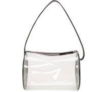 Transparent PVC Barrel Tasche