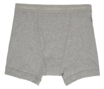 Three-Pack Grey Cotton Boxer Slip