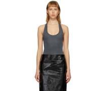 Velvet Jersey Sleeveless Bodysuit