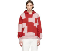 Red and Pink Panel Hoodie