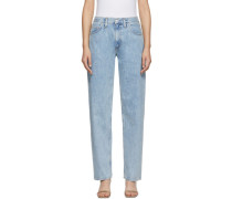 Taschegy Mid Rise Pleated Oversized Jeans