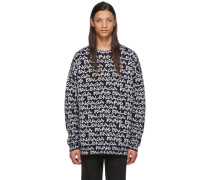 Black and White  Paris Sweatshirt