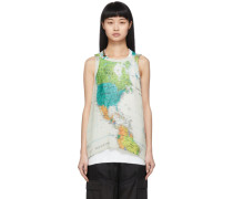 Pleated World Map k Top