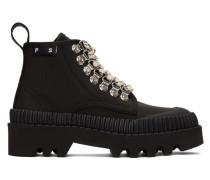 Black Hiking Stiefels