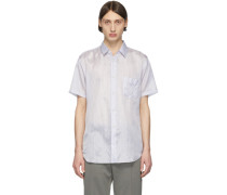 Striped Cupro Short Sleeve Shirt