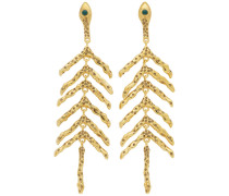 Gold Fishbone Ohrring