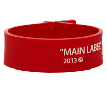 Red Thin Label Armband