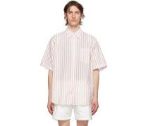 Silk Striped Short Sleeve Shirt