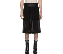 Black Mesh Boxing Short
