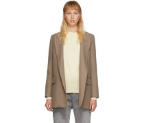Taupe Buttonless Longblazer
