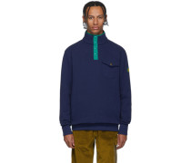 Terry Half-Button Sweatshirt