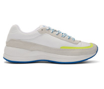 White and Yellow Mary Low-Top Sneaker