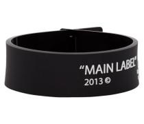 Black Thin Label Armband
