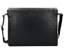 Roma Messenger Leder Laptopfach schwarz