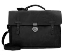 Bristol 52 Aktentasche Leder Laptopfach schwarz