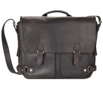 Ivy Court Messenger Leder Laptopfach braun