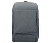 Alpha Backpack Business Rucksack Leder Laptopfach slate grey