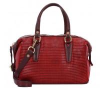 Handtasche Leder red