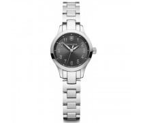 Alliance XS Quarzuhr Edelstahl black silver